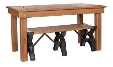 mesa de jantar madeira plástica 100% reciclada 1,50x0,82m