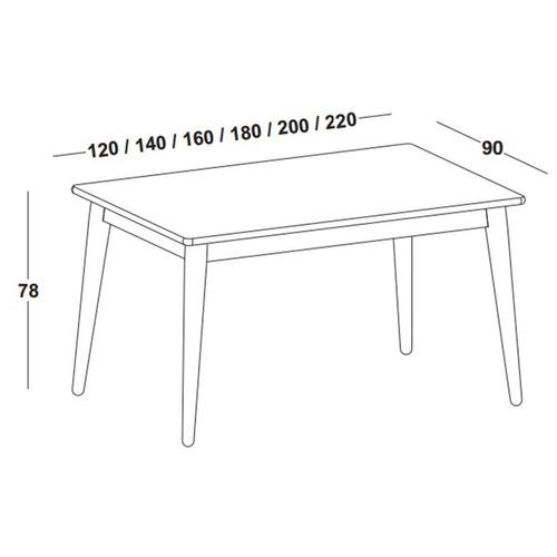 mesa de jantar novita com tampo 220cm maxima gc