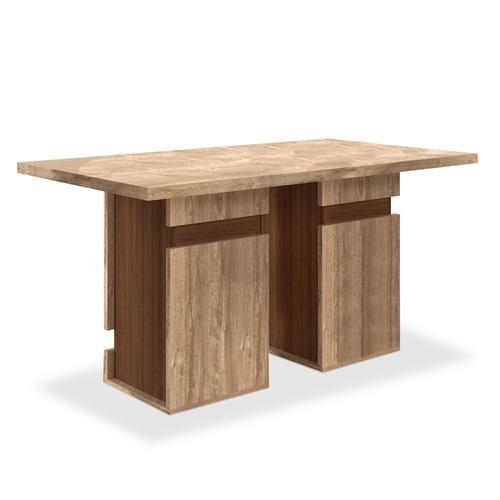 mesa de jantar para 6 lugares, (1,60 x 90), rústico york, ca