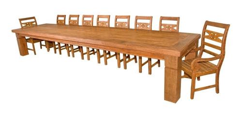 mesa de jantar pé chines 5,0 m c/ 16 cadeiras / mc