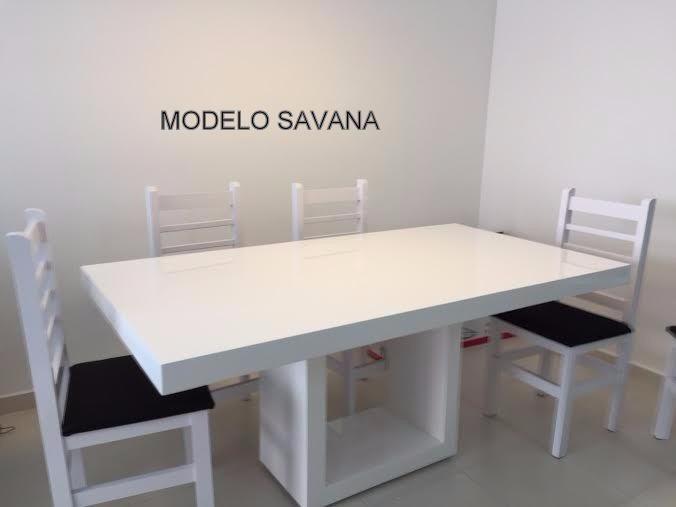 37188934e Mesa De Jantar Resina - Savana - Cor Branca 1.80 X 0.90 - R  2.835 ...