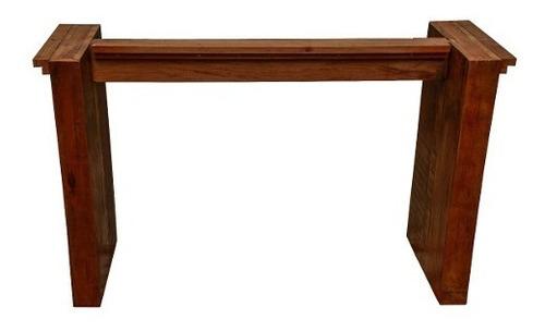 mesa de jantar retangular em madeira de demolição 1,60x80x78