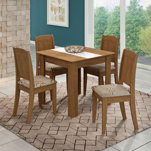 mesa de jantar suly c/ 4 cadeiras - rio (capital) e baixada