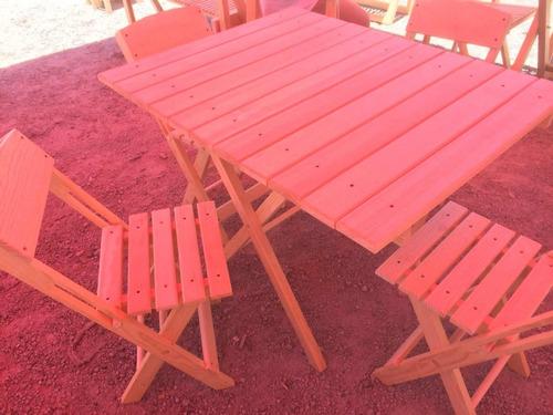 mesa de jardín madera natural