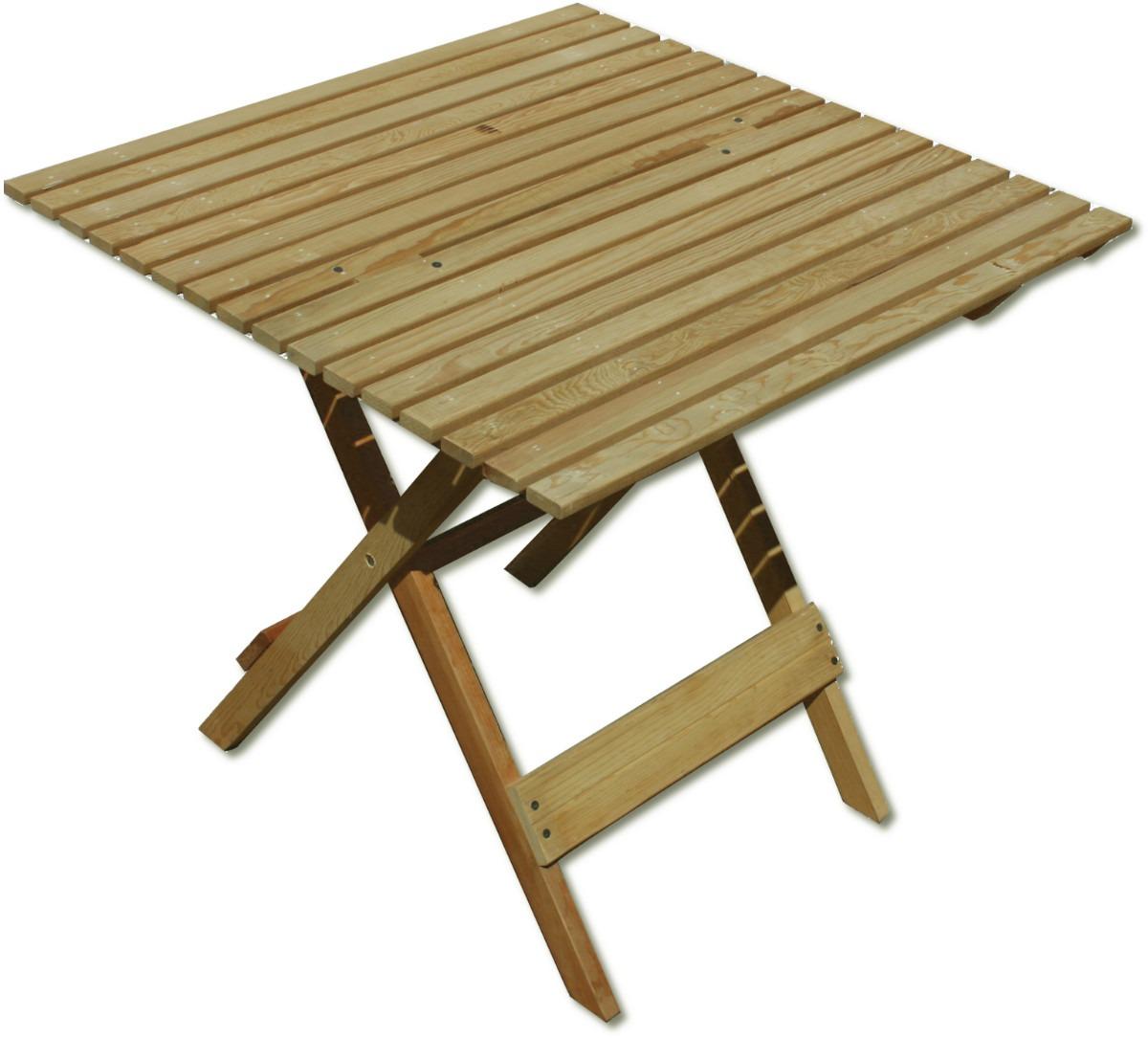 mesa de jard n mueble plegable madera jardin o interiores