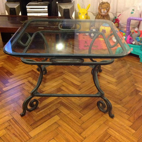 mesa de jardin o interior! hierro forjado! preciosa!!