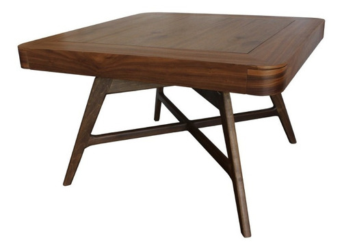 mesa de juego actual studio fiordo madera de nogal natural