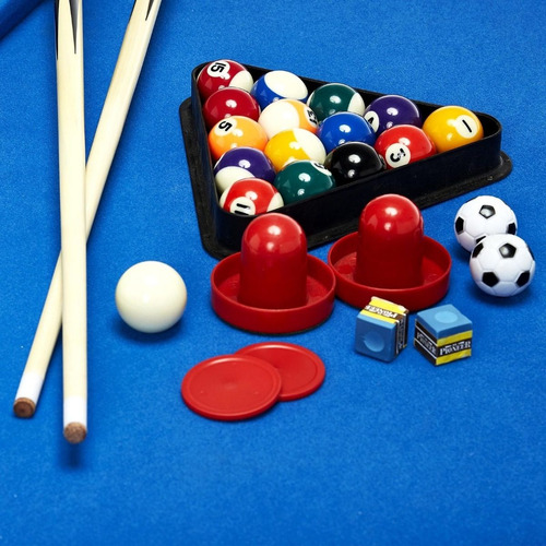 mesa de juegos multiples billar futbolito hockey accesorios