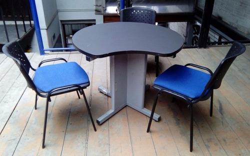 mesa de juntas con sillas oficina remato combo