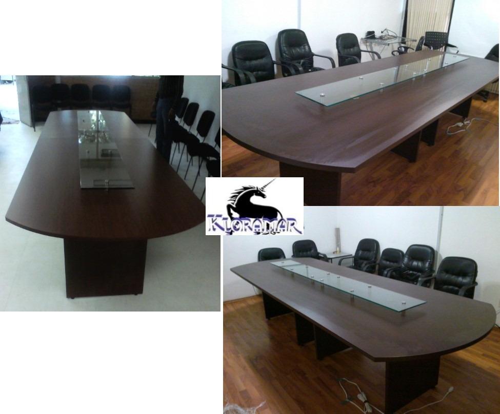 Mesa de juntas de de largo con cristal templado 5 en mercado libre - Cristal templado para mesa ...