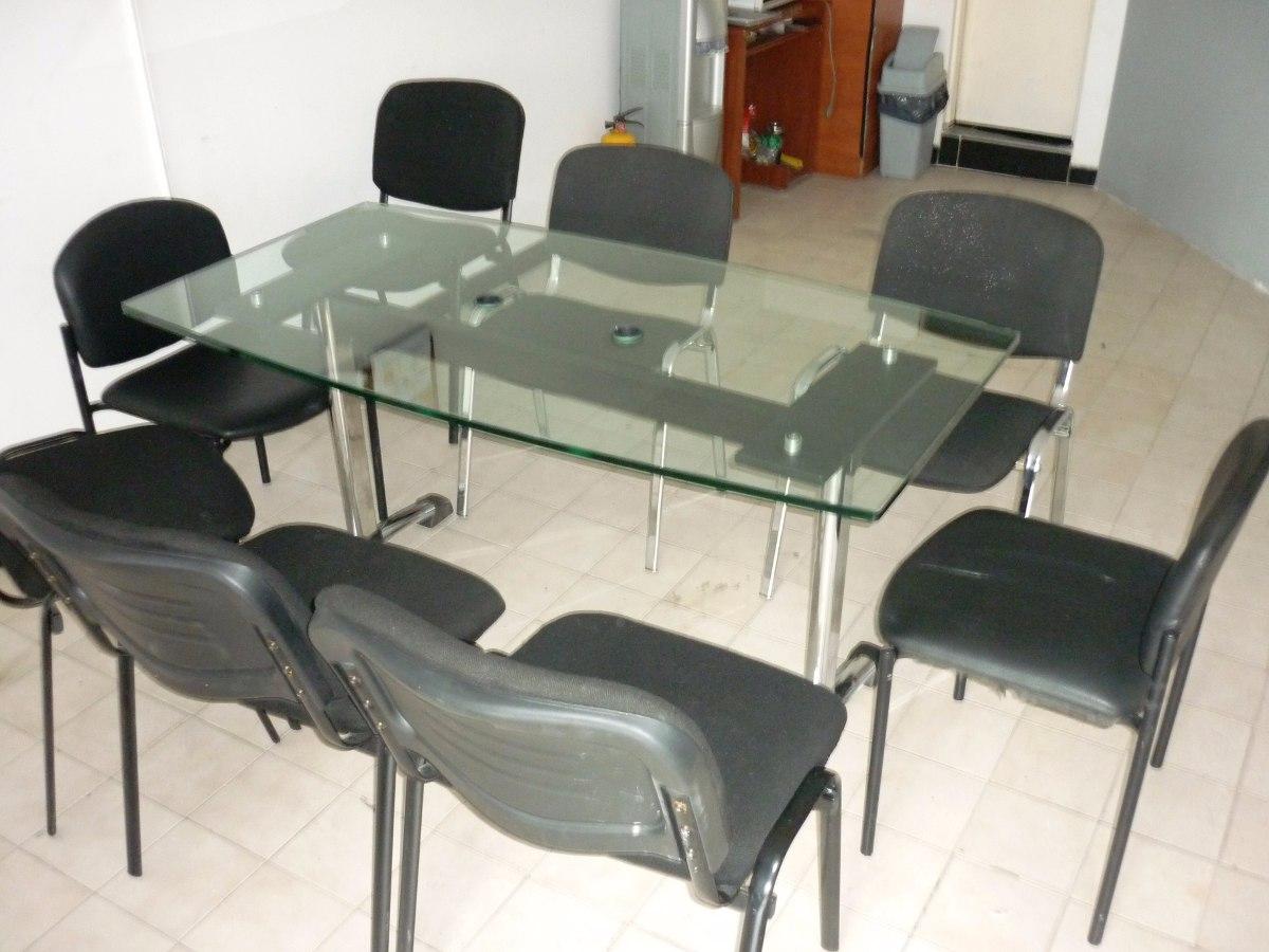 Mesa de juntas en vidrio envios a todo el pais for Mesas de juntas para oficina