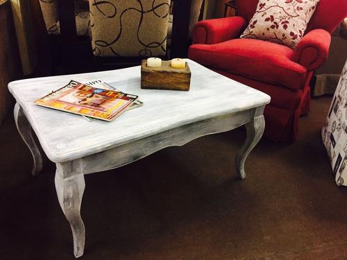mesa de living  / vintage / madera maciza/ montetrani