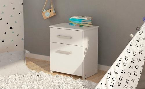 mesa de luz 1 cajón + 1 puerta dakar mueble dormitorio