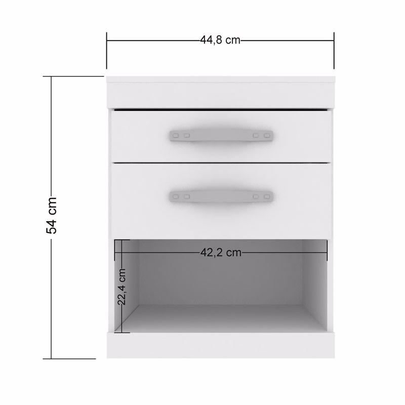 Estantes Metalicos Para Baño:Mesa De Luz 2 Cajones Con Rieles Metálicos Y Estante – $ 890,00 en
