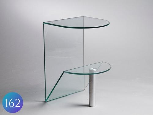mesa de luz de vidrio y alumino. 10mm. diselo moderno.