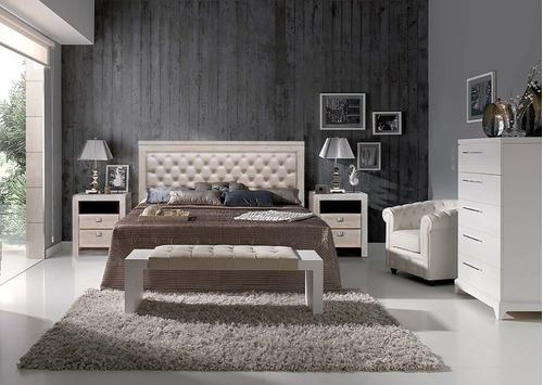 mesa de luz diseño brando madera de 70cm maga collection