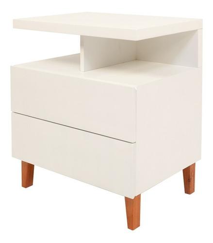 mesa de luz diseño nordico madera laqueada forbidan muebles