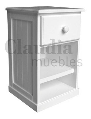mesa de luz dormitorio angosta laqueada claudia muebles