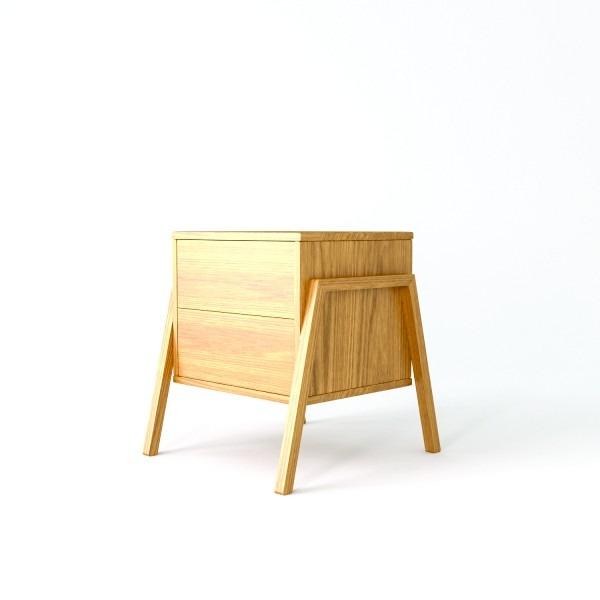 Mesa de luz en mdf de 18mm con lamina de madera lustrada - Laminas de madera ...