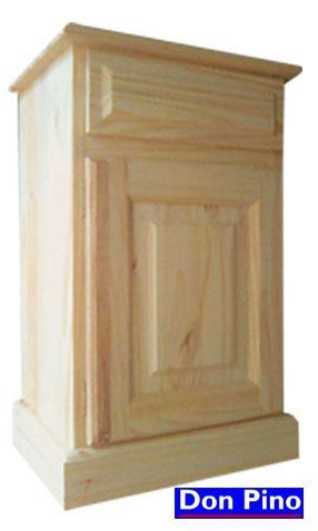 mesa de luz en pino - 0,40x 0,70 x 0,35- oferta