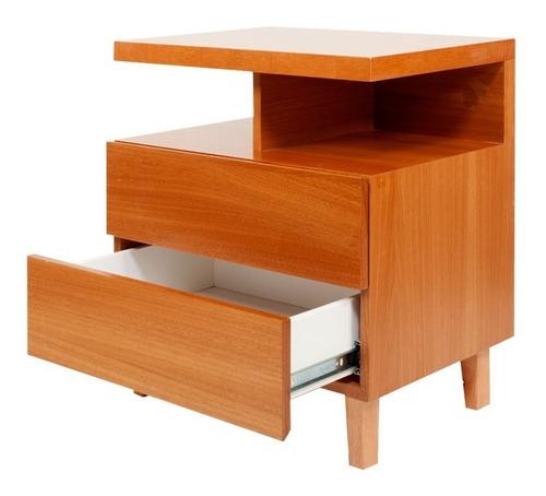 mesa de luz estilo escandinavo cajonera forbidan muebles