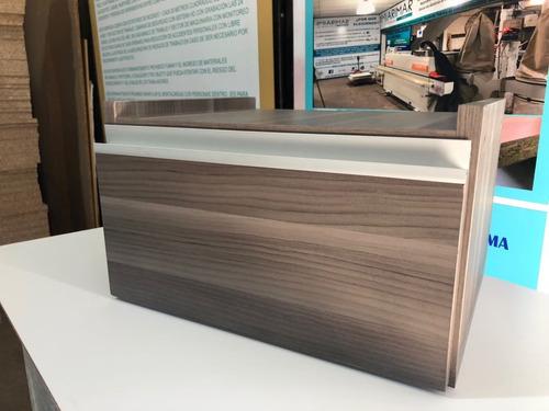 mesa de luz flotante en melamina 18 mm perfil j
