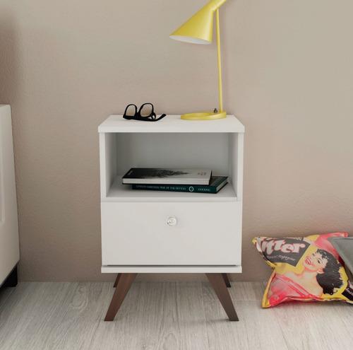 mesa de luz linea retro living dormitorio 1 cajon ro rt3019