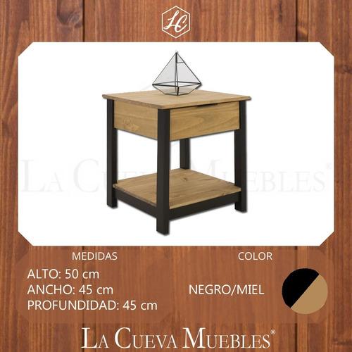 mesa de luz madera - 1 cajon - zapatera - dormitorio - lcm