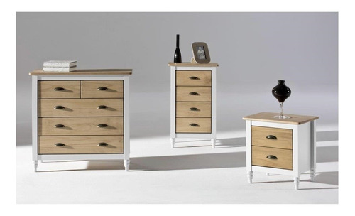 mesa de luz madera maciza 2 cajone excelente calidad imperio