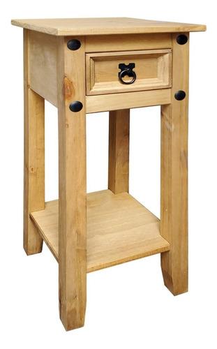 mesa de luz madera premium - 1 cajon - dormitorio - lcm