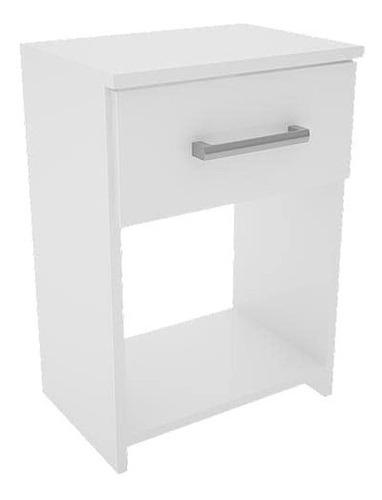 mesa de luz orlandi modelo 102 1 cajón blanca