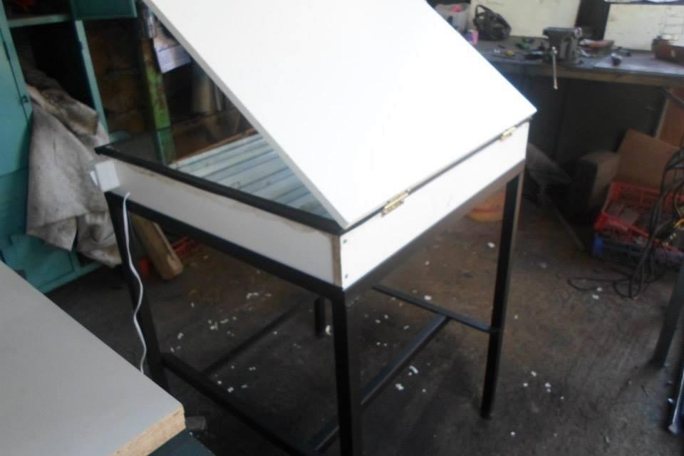Mesa de luz para serigrafia en mercado libre - Como hacer una mesa abatible ...