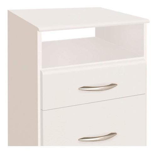 mesa de luz platinum modelo 962 blanca