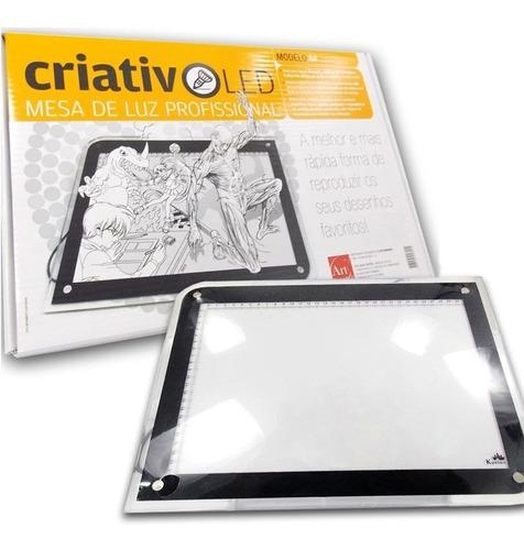 mesa de luz profissional criativo led a4 com ajuste de luz
