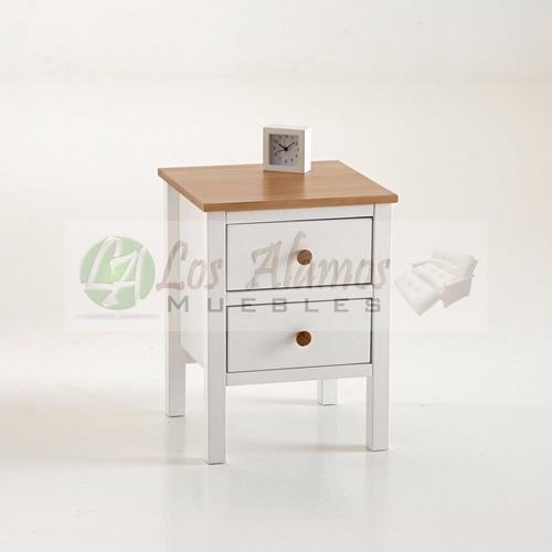 mesa de luz recta patinada 0.40x0.30x0.70