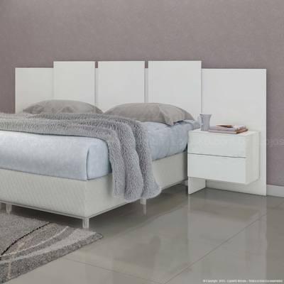 mesa  de luz respaldo cama - sommier mesita colchon 2 plazas
