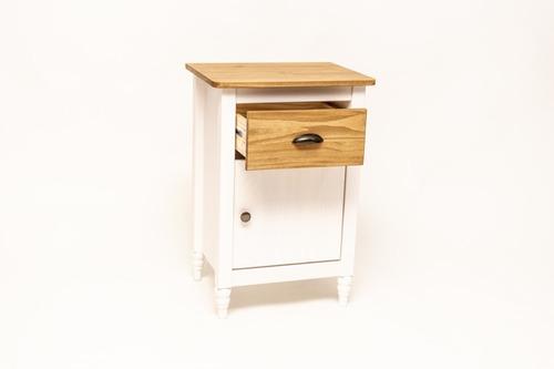 mesa de luz, vintage madera , armado gratis. artico