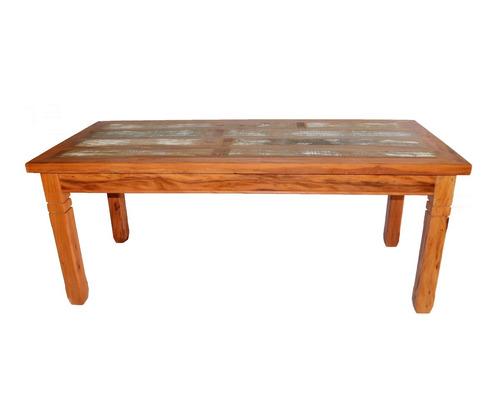 mesa  de madeira de demolição de 2 metros (frete gratis)