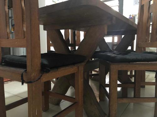mesa de madeira maciça angelim