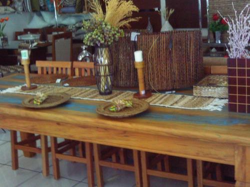 mesa de madeira maciça de demolição 2,50