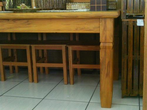 mesa de madeira maciça de demolição