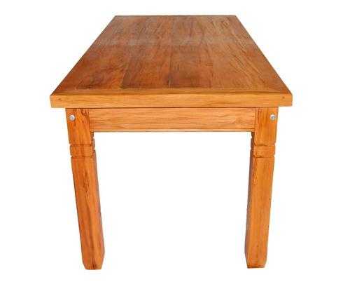 mesa  de madeira maciça de demolição de 2 metros