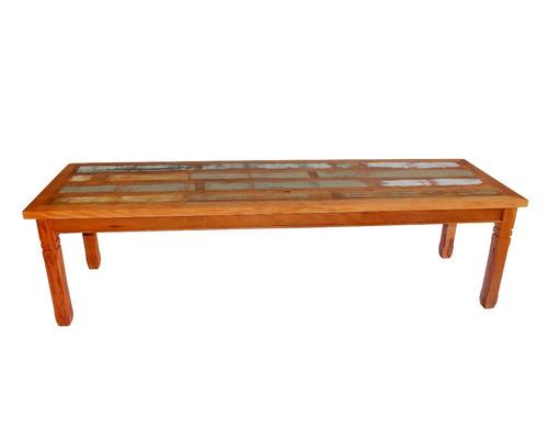 mesa de madeira maciça de demolição de 2,5 metros