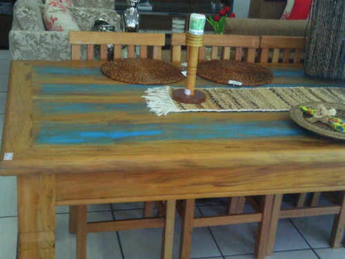 mesa de madeira maciça de demolição (promoção mês de abril)