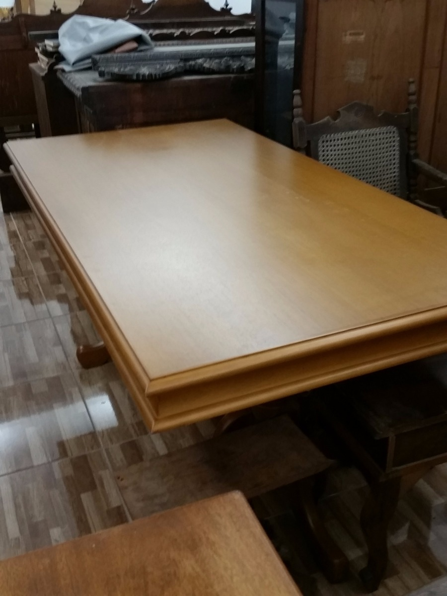 Mesa de madeira maci a estilo colonial r em for Mesas estilo colonial