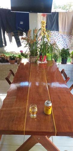 mesa de madeira macica medidas 81x2.25m