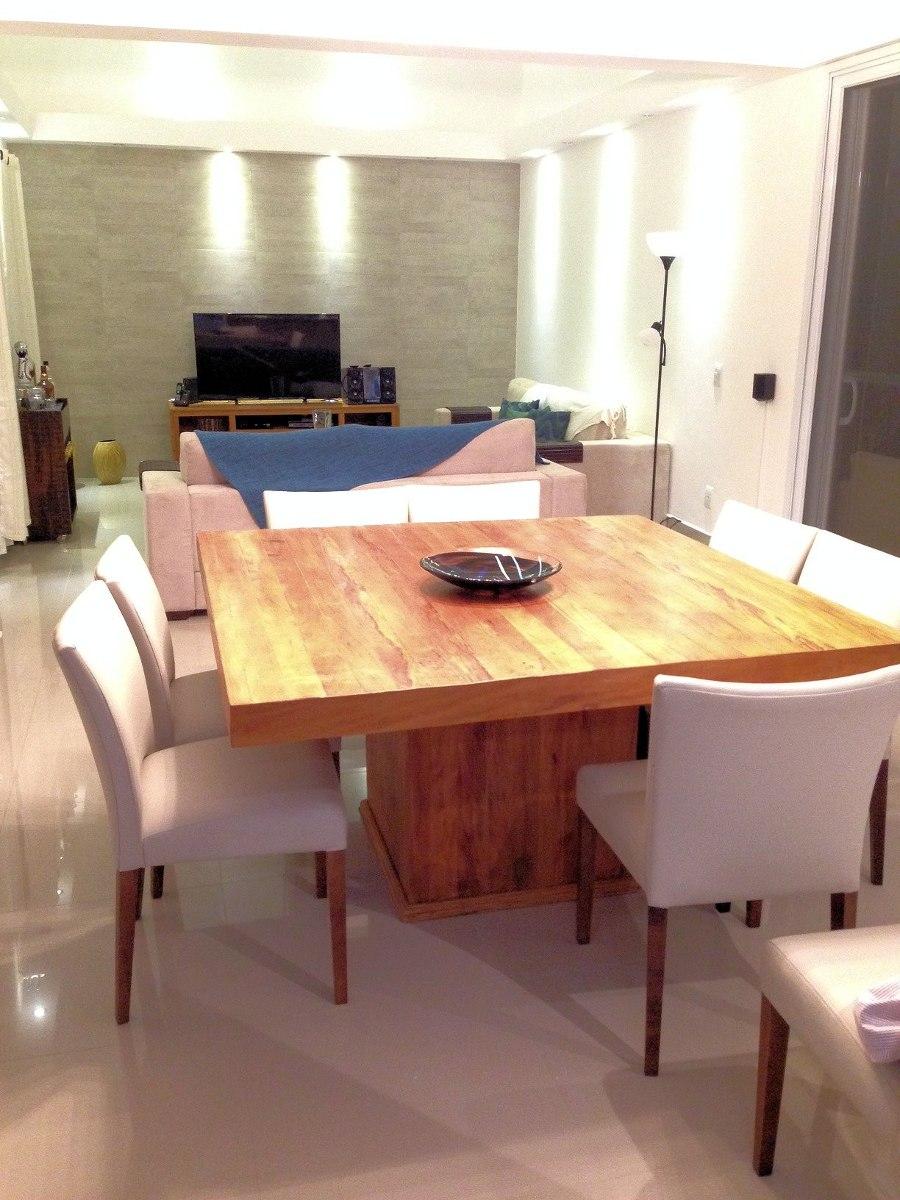 Mesa de madeira novo modelo em peroba rosa r for Modelos de mesas para cafeteria
