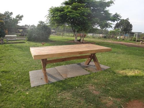 mesa de madeira rústica - pés em  x