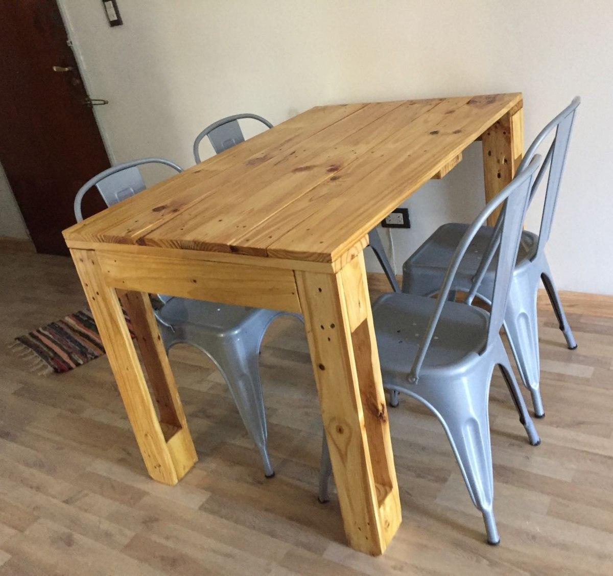 Mesa De Madera Alta Y Ratonas Para Comedor Living Cocina - $ 3.399 ...