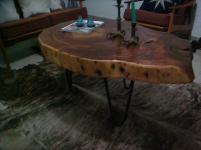 Mesa de madera con rodaja de tronco 6 en - Mesas de troncos de madera ...